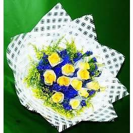 11枝黄玫瑰/温馨与祝福