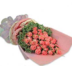 33枝粉玫瑰/粉色柔情
