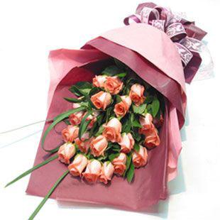 21枝粉玫瑰/愛永恒