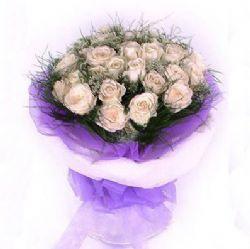 33枝香槟玫瑰/天使的爱