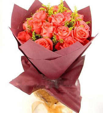 19枝粉玫瑰/浪漫�c激情