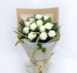 12枝白玫瑰/表白