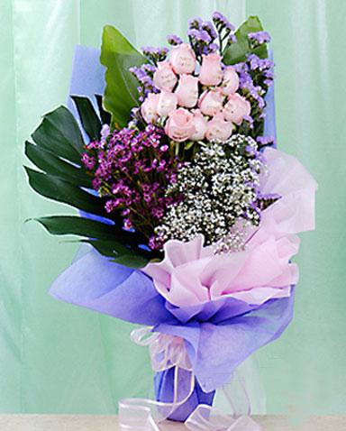 12枝粉玫瑰/�墼诎肯�