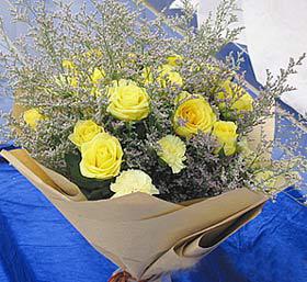 12枝黄玫瑰/爸爸我爱你