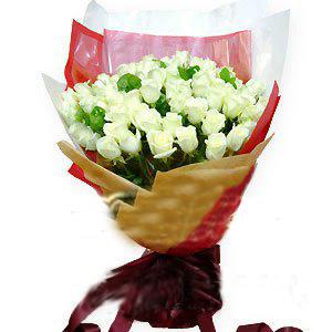 33枝白玫瑰/甜蜜笑容