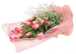 18枝粉玫瑰/甜蜜回��