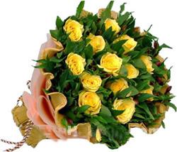 15枝黄玫瑰/歉意