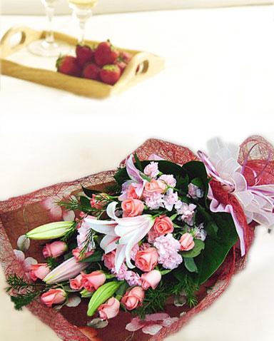 18枝粉玫瑰/馨人的芬芳