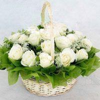 18枝白玫瑰/幸福快��