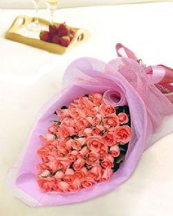 72枝粉玫瑰花/用心爱着