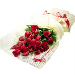 21枝红玫瑰/火热的爱: 21枝红玫瑰,绿叶丰满.
