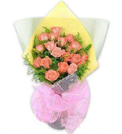 19枝粉玫瑰/�H情��候