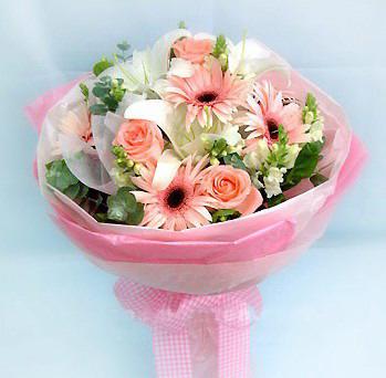 3枝粉玫瑰/粉�t色的���