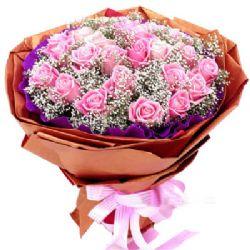 26枝粉玫瑰/千万次的爱