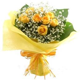 8枝黄玫瑰/美人如玉