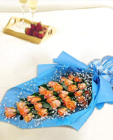 29枝香槟玫瑰/爱是love