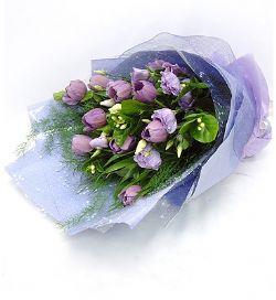 9枝紫色郁金香/紫色的诱惑