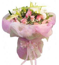 17枝粉玫瑰/�衾锘�