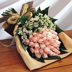 36枝粉玫瑰/情意�d�d