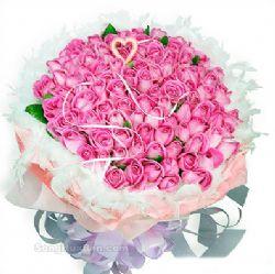 99枝桃色玫瑰/经典爱情