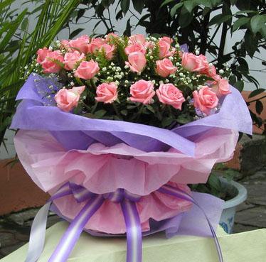 33枝粉玫瑰/爱恋 思念