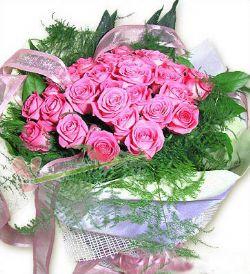 28枝桃色玫瑰/寄相思