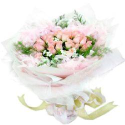 26枝粉玫瑰/美好时光