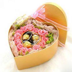 17枝粉玫瑰/知心爱人