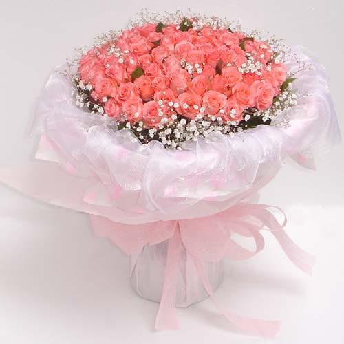 66枝粉玫瑰/爱你的人