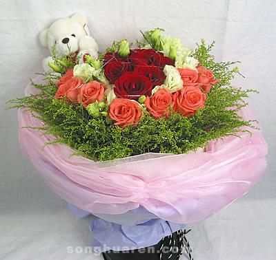 10枝粉玫瑰/爱情