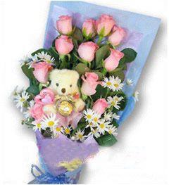 12枝粉玫瑰/祈盼