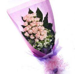 28枝粉玫瑰/��硎悄�