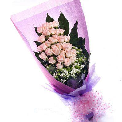 28枝粉玫瑰/缘来是你