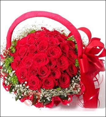 36枝红玫瑰/金玉果