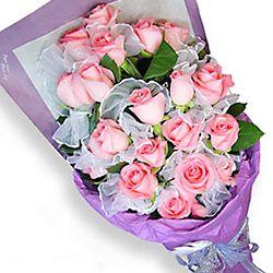 20枝粉玫瑰/粉色精靈
