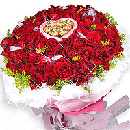 99枝红玫瑰/心心相印