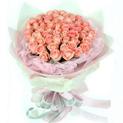 36枝粉玫瑰/相戀