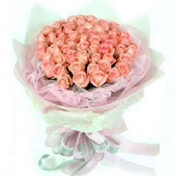 36枝粉玫瑰/相恋