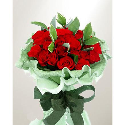 29枝玫瑰/一生的珍贵: 29枝红玫瑰,外围绿叶