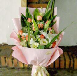 11枝粉玫瑰/完美的幸福
