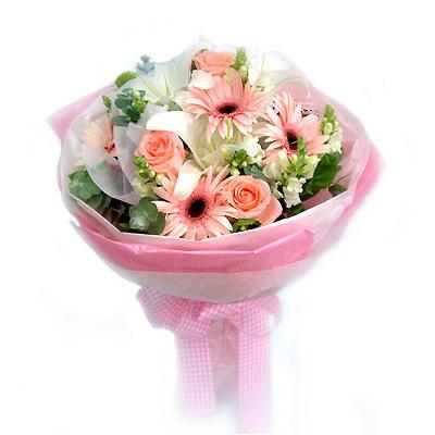 5枝粉红玫瑰/