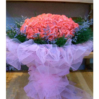 99枝粉玫瑰/冬日的温暖