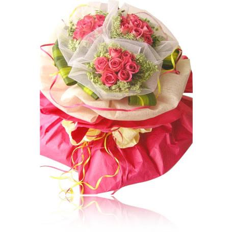 21枝粉玫瑰/嫁给我吧