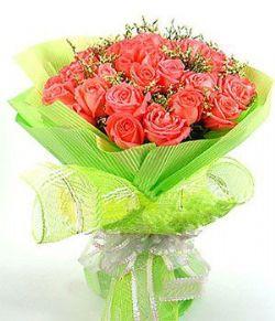 21枝粉玫瑰/火热情怀