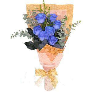7枝蓝玫瑰/海蓝幻想