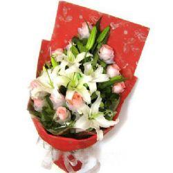 11枝粉玫瑰/浪漫情