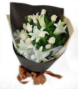 11枝白玫瑰/�情幸福