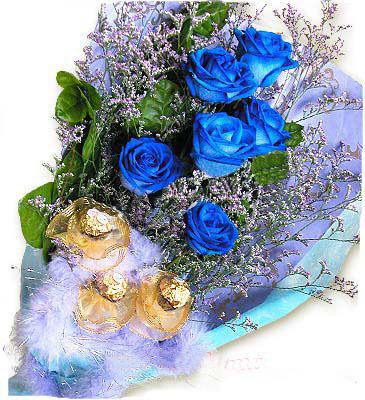 6枝蓝玫瑰/魅之蓝