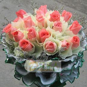 18枝粉玫瑰/甜美的爱