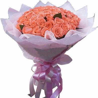 44枝粉玫瑰/單純的愛戀